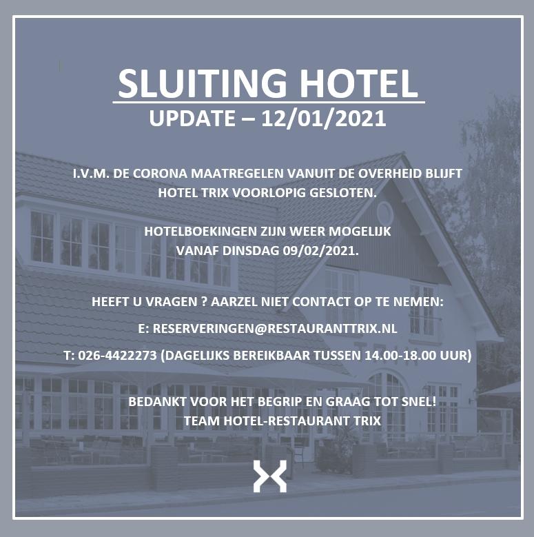 Hotel Trix Gesloten 09-02-2021